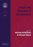 Origin and Evolution of the Elements
