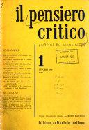 Il Pensiero Critico 1 Anno 1 Istituto Editoriale Italiano