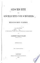Geschichte des geschlechtes von Schönberg meissnischen stammes