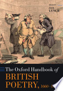 The Oxford Handbook of British Poetry  1660 1800