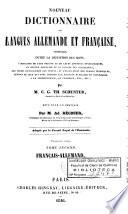 Neues und vollständiges Wörterbuch der Deutschen und Französischen Sprache