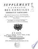 Analyse des Conciles generaux et particuliers (etc.)