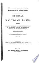 General Railroad Laws