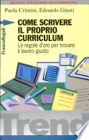 Come scrivere il proprio curriculum