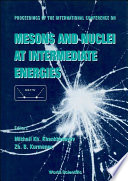 Mesons and Nuclei at Intermediate Energies