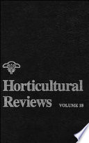 Horticultural Reviews This Book Emphasizes Applied Topics