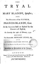 download ebook the tryal of mary blandy, spinster pdf epub