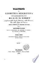 Trattato di geometria descrittiva ...