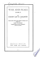 The Complete Works of Count Tolst  y  War and peace