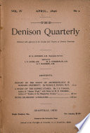 The Denison Quarterly