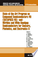 State-of-the-Art Program on Compound Semiconductors 49 (SOTAPOCS 49) -and- Nitrides and Wide-Bandgap Semiconductors for Sensors, Photonics, and Electronics 9