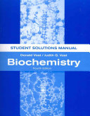 Biochemistry Student Solutions Manual