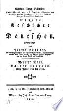 Michael Ignaz Schmidts ... Neuere geschichte der Deutschen ...