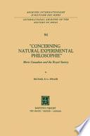 Concerning Natural Experimental Philosophie