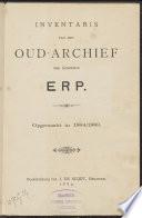 Inventaris van het oud-archief der gemeente Erp