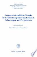 Gesamtwirtschaftliche Modelle in der Bundesrepublik Deutschland