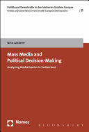 Mass Media and Political Decision Making