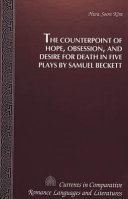 download ebook the counterpoint of hope, obsession, and desire for death in five plays by samuel beckett pdf epub