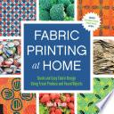 Fabric Printing at Home