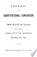 Journal of the Constitutional Convention of the State of Texas