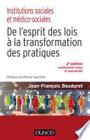 Institutions Sociales Et M Dico Sociales 2e D
