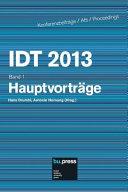 IDT 2013 - Hauptvorträge