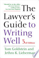 The Lawyer s Guide to Writing Well