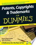 Patents  Copyrights   Trademarks For Dummies