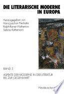 Die literarische Moderne in Europa