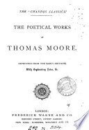 The poetical works of Thomas Moore  with notes Book PDF