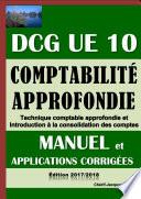 Comptabilit   approfondie   DCG UE 10   Manuel et applications corrig  es   Edition 2017 2018