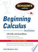 Schaum s Outline of Beginning Calculus  Third Edition