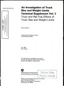An Investigation Of Truck Size And Weight Limits Technical Supplement Volume 3 Truck And Rail Fuel Effects Of Truck Size And Weight Limits