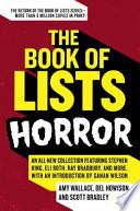 The Book of Lists  Horror