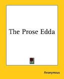 The Prose Edda book
