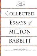 download ebook the collected essays of milton babbitt pdf epub