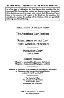 Restatement Of The Law Torts