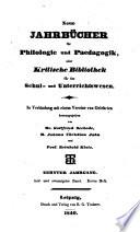 Jahnscher Jahrb  cher f  r Philologie und Paedagogik