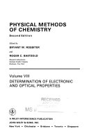 Physical methods of chemistry