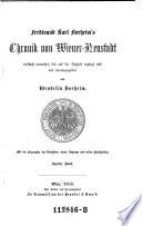 Ferdinand Karl Boeheim's Chronik von Wieuer-Neustadt