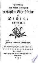 Sammlung der besten deutschen prosaischen Schriftsteller und Dichter