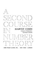 A second course in number theory