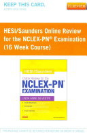 HESI   Saunders Online Review for the NCLEX RN Examination Access Code