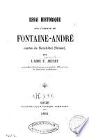 Essai historique sur l'Abbaye de Fontaine-André, canton de Neuchâtel (Suisse)