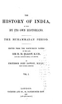 The History Of India As Told By Its Own Historians