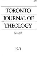 Toronto Journal of Theology