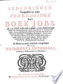 Bedenkingen Voorgestelt Ter Nader Verklaringe Van T Boek Jobs