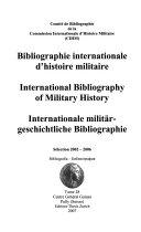 Bibliographie internationale d histoire militaire