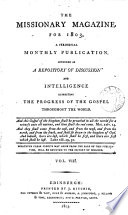 THE MISSIONARY MAGAZINE FOR 1803, VOL. VIII