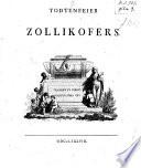 Todtenfeier Zollikofer's